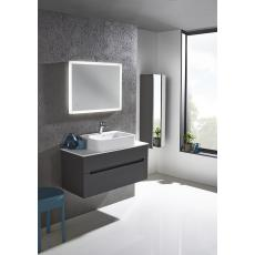 Diverge 800mm Wall Mounted Unit Including Ceramic Basin
