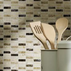 Ribeira Mix Polished Marble Mosaic 15x50mm