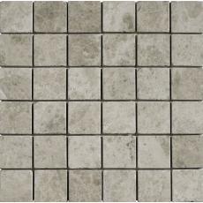 Burela Grey Tumbled Marble Mosaic 50x50mm