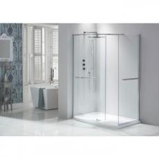 Aquaglass Purity Closing Walk-In Shower Enclosure Including Dedicated Tray