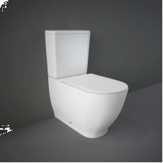 Moon Rimless Close Coupled WC Closed Back With Soft Toilet Seat