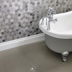 Boveda Stone Hexagon Mixed Finish Marble Mosaic 48x48mm