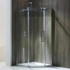 Aquaglass+ Frameless 1 Door Quad Shower Enclosure