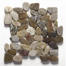 Lancara - Multi Colour Flat Cut Pebble Mosaic