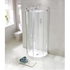 Aquaglass Purity 'D' Shaped Quad Shower Enclosure