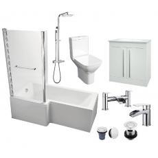 L-Shaped 1700 Bathroom Package