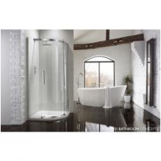 Aquaglass+ Sphere 1 Door Quad Shower Enclosure