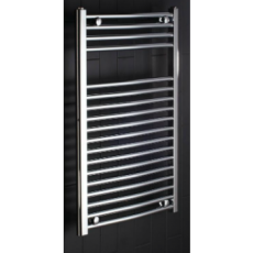Curved 700 x 450 Central Heating Towel Warmer