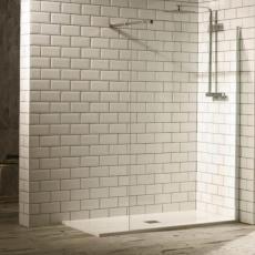 Aquaglass+ Walk-In Shower Enclosure Including Stabilising Bar