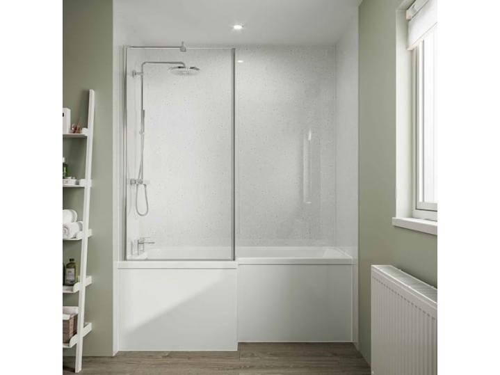 Multipanel Classic Collection White Snow - Laminated Shower Panel Board image
