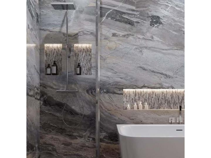 Multipanel Classic Collection Cappuccino Stone - Laminated Shower Panel Board image