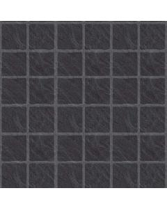 The Tile Collection Embossed Black Slate Large Matt