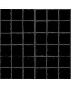 The Tile Collection Embossed Black Large Matt