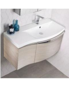 Serif 900mm Wall Mounted Unit Including Isocast Basin – Right