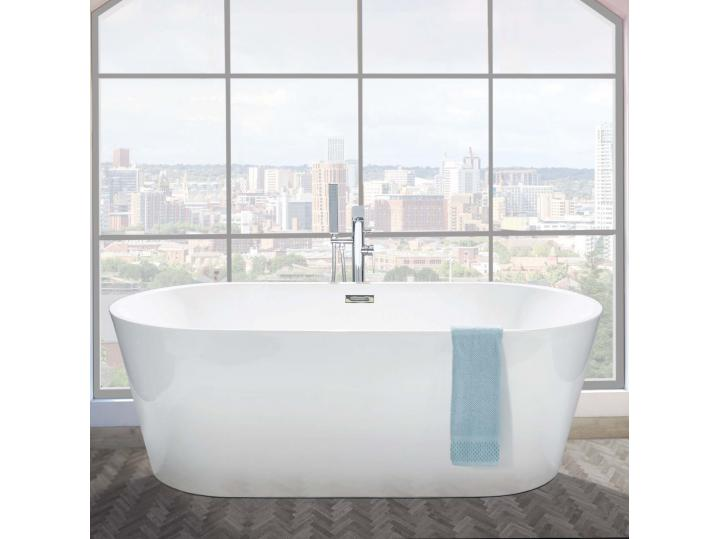 Ultima Piccolo Freestanding Bath inc Chrome Overflow & Waste 3 image