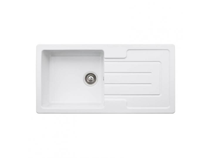 Acton Single Bowl Sink in White Ceramic image