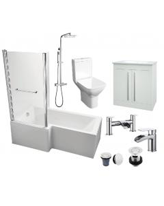 L-Shaped 1700 Bathroom Package