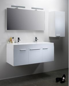 Envy 1200mm Double Wall Mounted Unit Including Double Isocast Basin