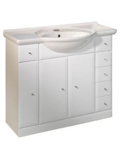 Valencia 1000mm Freestanding Unit Including Ceramic Basin