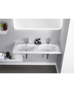 Theme 1210mm Wall Mounted Double Basin