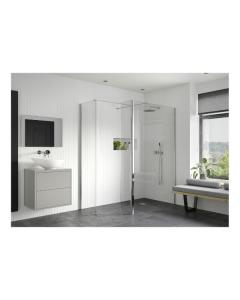 Reflexion Wet Room Screen with Return Panel and Support Bar 800