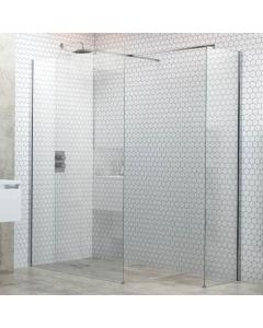 Flex Optional Wetroom Side Panel Support Bar and T Connector 500