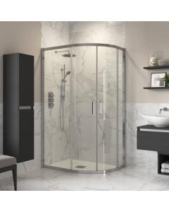 Reflexion Double Door Offset Quadrant Shower Enclosure 1000 x 800