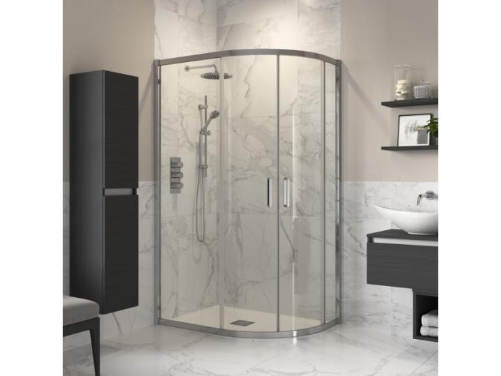 Reflexion Double Door Offset Quadrant Shower Enclosure 1000 x 800 image