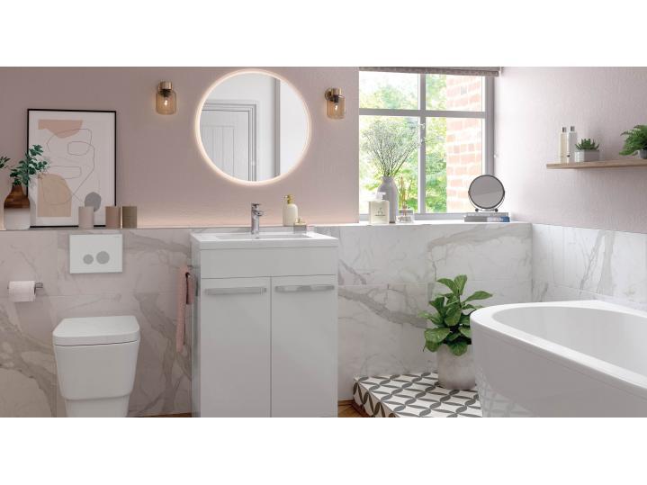 Morina Floor Standing 2-Door Vanity Unit with Basin 615 image