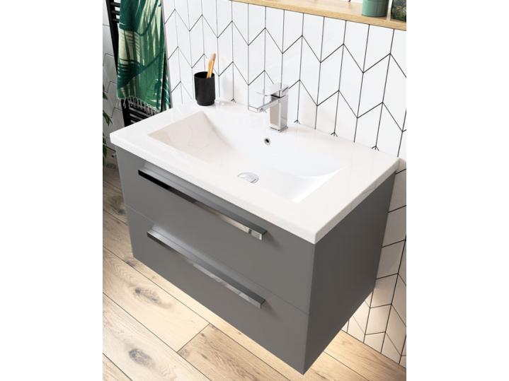 Morina Wall Hung 2-Drawer Vanity Unit with Basin 615 image