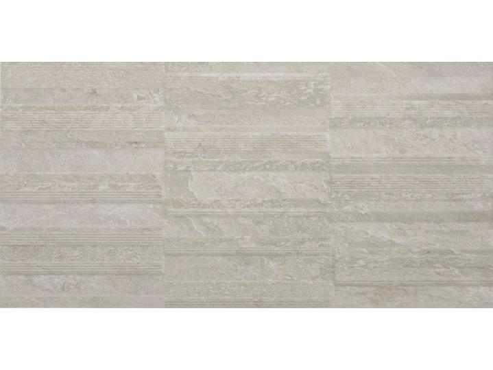 Palencia 250x500mm Structured Décor Wall Tile - Ivory Matt image