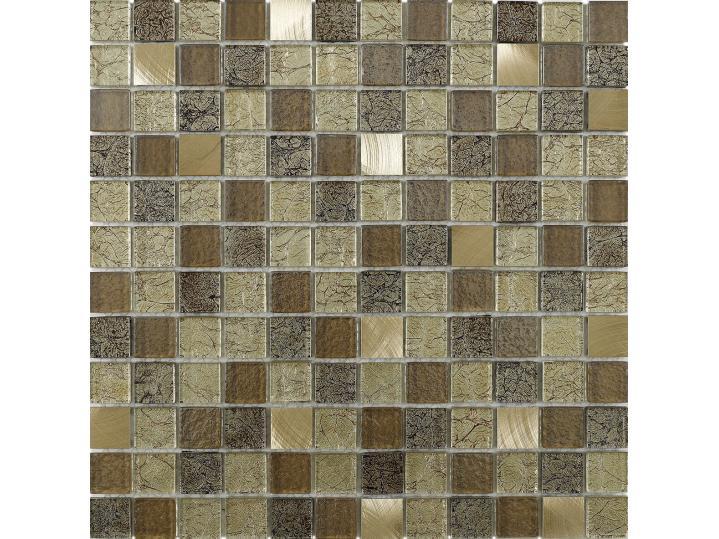 Andilla Gold Glass/Metal Mix Mosaic 23x23mm image