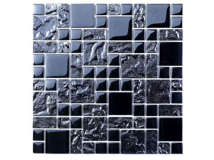 Black Reflective Mix Glass Modular Mosaic image