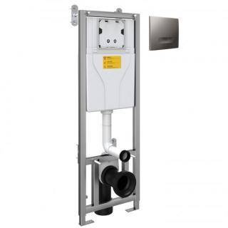 WC Frame And Cistern Inc Chrome Flush Plate - 1100mm