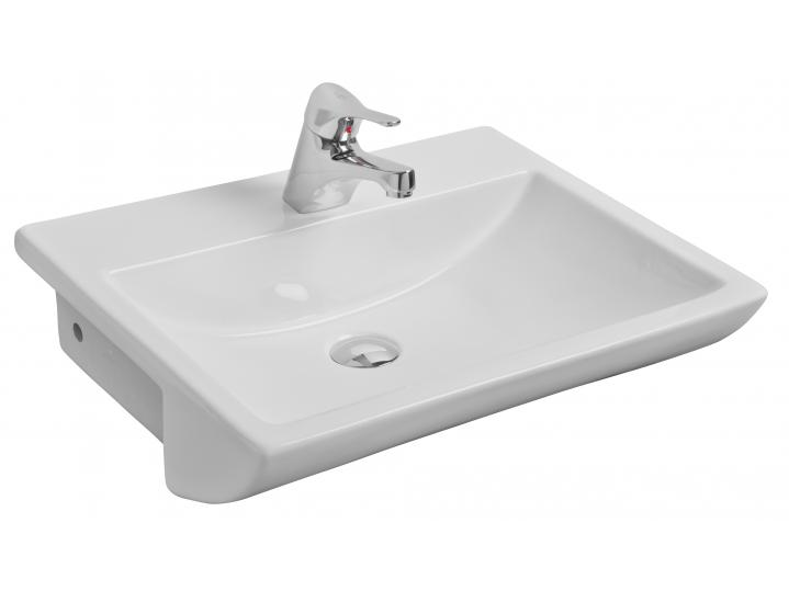 Aspect 550mm 1th Semi Recessed Basin image
