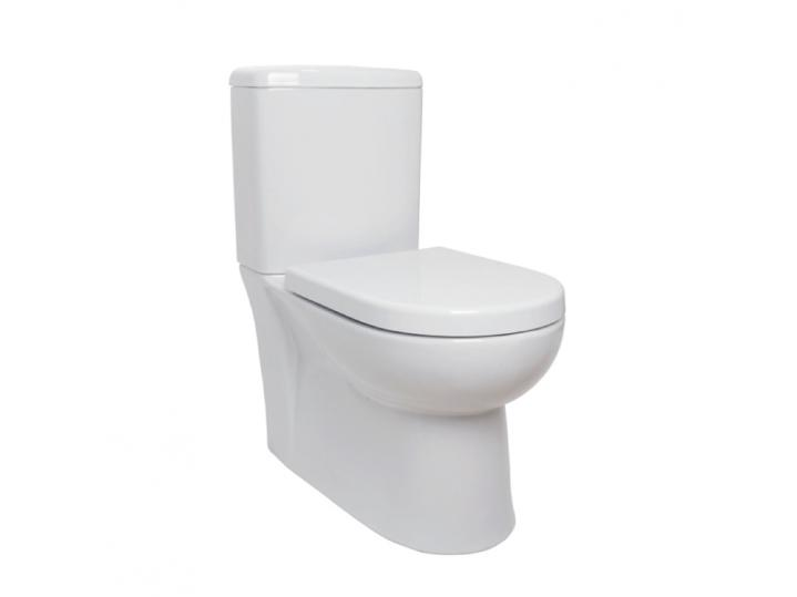 Woburn Close to Wall WC Pan, Cistern & Premium Soft Close Seat image
