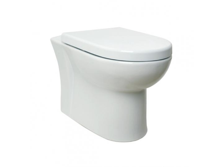Woburn Back to Wall WC Pan, Concealed Cistern & Premium Soft Close Seat image