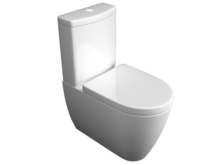 Genoa Close to Wall WC Pan, Cistern & Soft Close Seat image