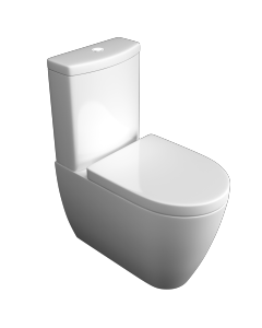 Genoa Close to Wall WC Pan, Cistern & Soft Close Seat