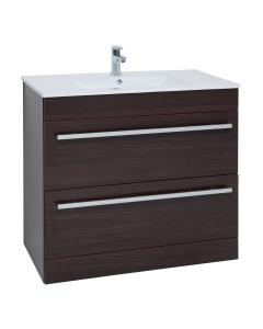 Purity Chestnut Floorstanding 2 Drawer Unit & Ceramic Basin