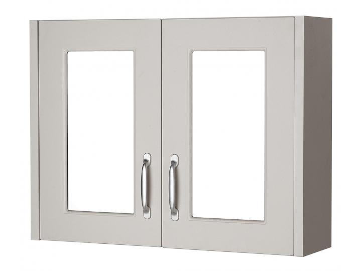 Astley Stone Grey Mirror Cabinet image