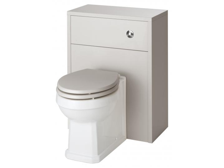 Astley Stone Grey WC Pan, Cistern and Soft Close Seat image