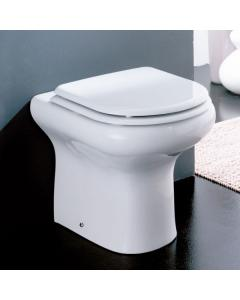 RAK Compact Rimless Back-to-Wall Toilet WC - Soft Close Seat