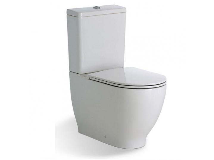 RAK Harmony Close Coupled Toilet WC with Push Button Cistern - Soft Close Seat image