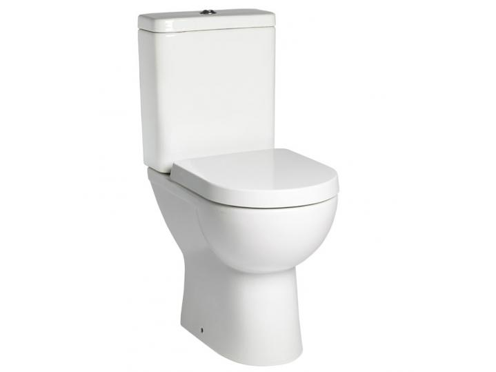 Tavistock Ion Comfort Height Toilet WC with Push Button Cistern & Soft Close Seat image