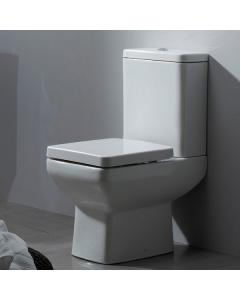 Tavistock Q60 Close Coupled Toilet WC Push Button Cistern with Soft Close Seat