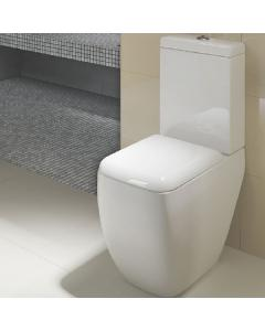 RAK Metropolitan Close Coupled Toilet WC Push Button Cistern with Soft Close Seat