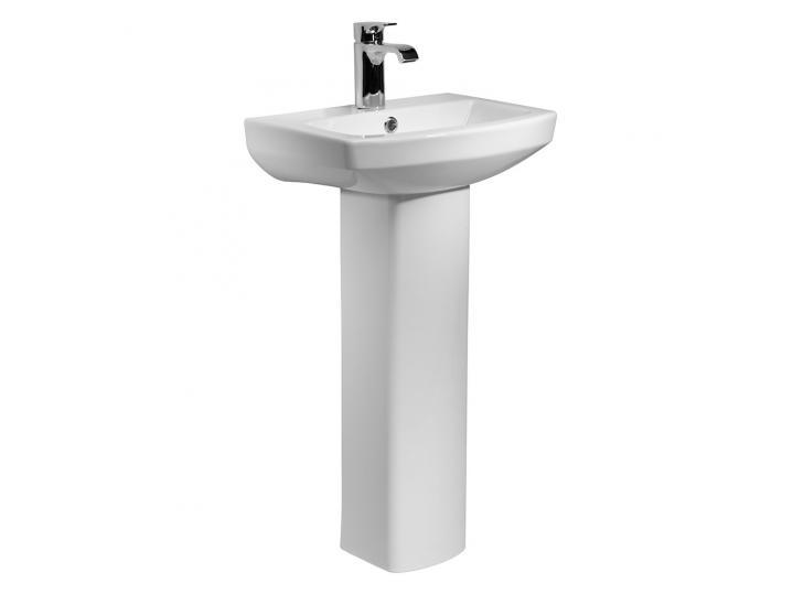 Tavistock Vibe Semi Recessed Basin & Full Pedestal 460mm Wide image