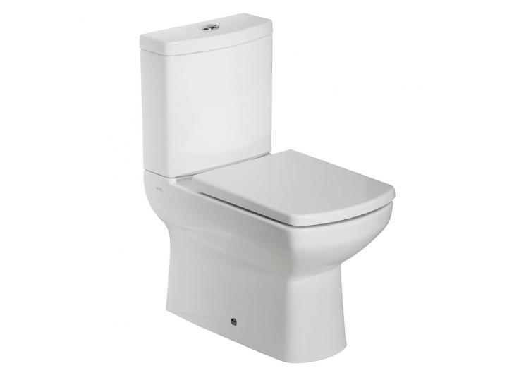 Tavistock Vibe Flush Fit Close Coupled Toilet WC Push Button Cistern with Soft Close Seat image