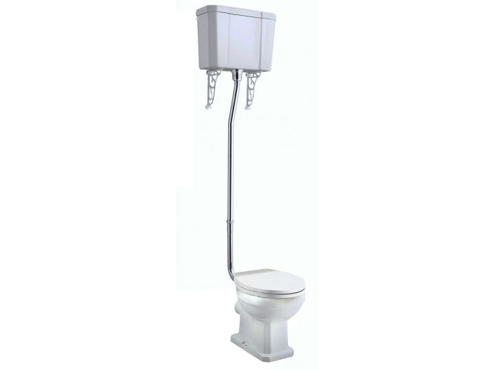 Tavistock Vitoria High Level Toilet WC Pull Chain Cistern with Soft Close Seat image
